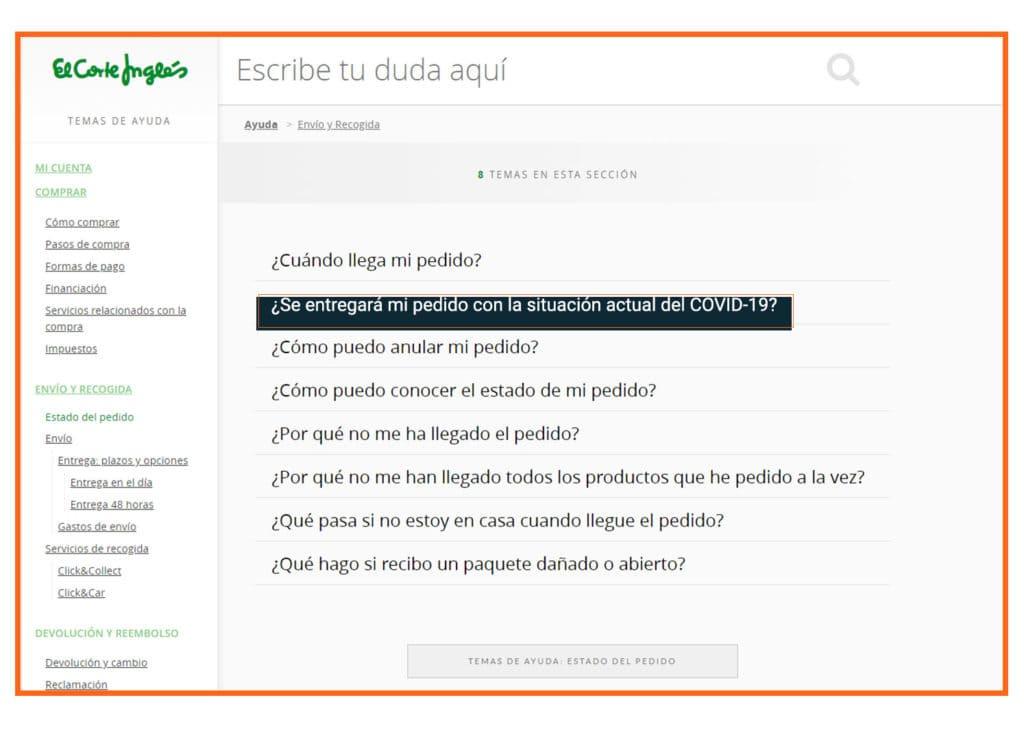 Imagen de la transformación digital de El Corte Inglés en su gestión de su ecommerce