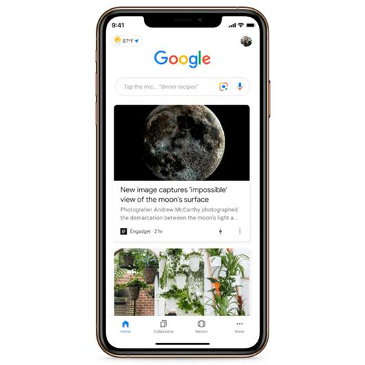 Imagen representativa de qué es google discover y cómo se ve en el smartphone